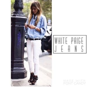🎉HOST PICK🎉 Paige White Roxbury Cropped Jeans 28